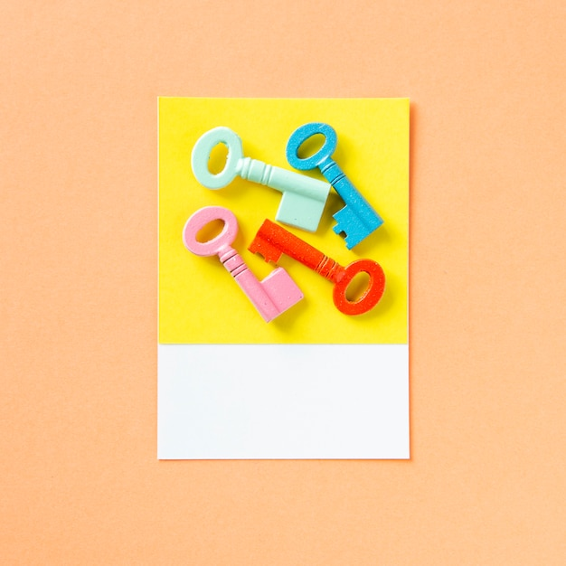 A bunch of colorful keys Free Photo