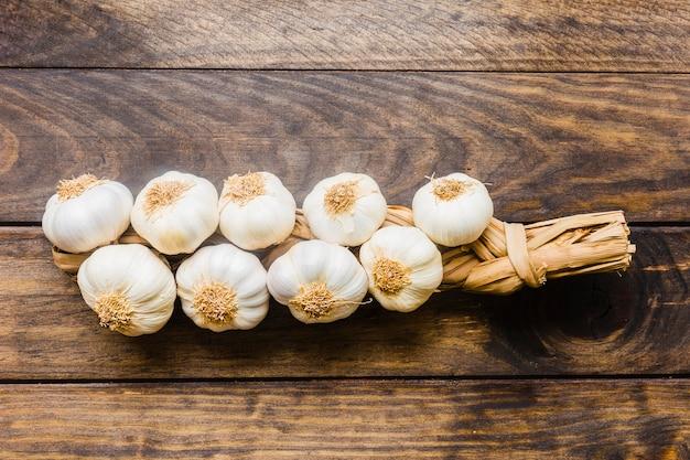 Bunch of fresh garlic Free Photo