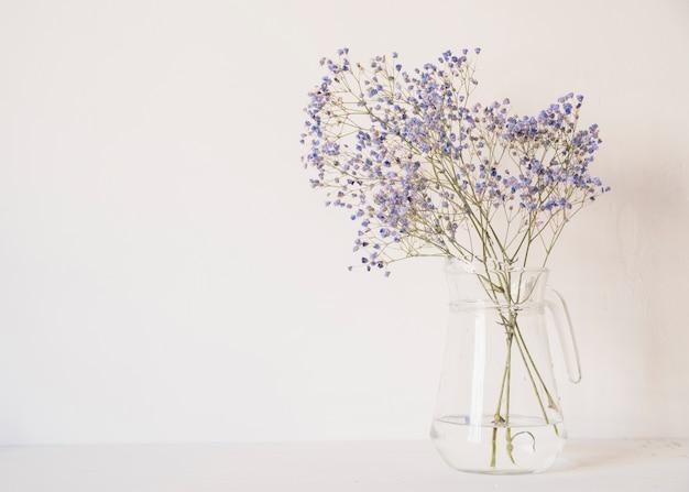 Bunch of gentle flowers in vase Free Photo