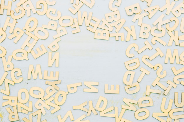Bunch of letters on gray Free Photo