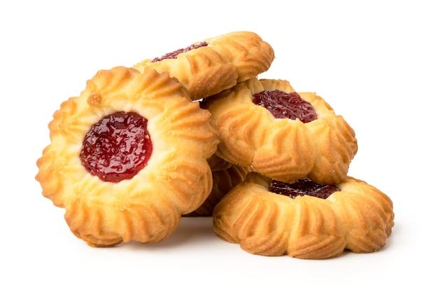 Букет печенья с вареньем на белом, изолированные. Premium Фотографии