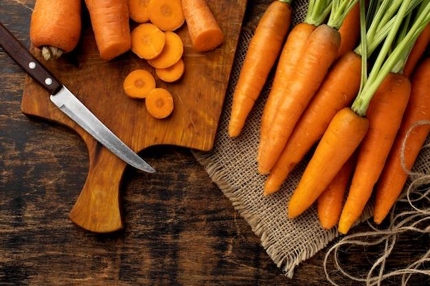Композиция из свежей моркови Бесплатные Фотографии