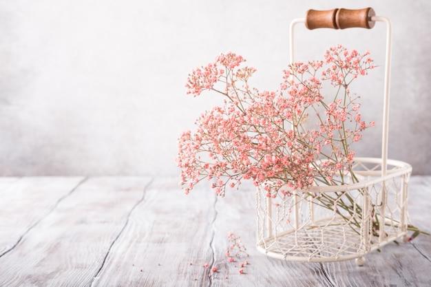 Bunch of pink gypsophila Premium Photo