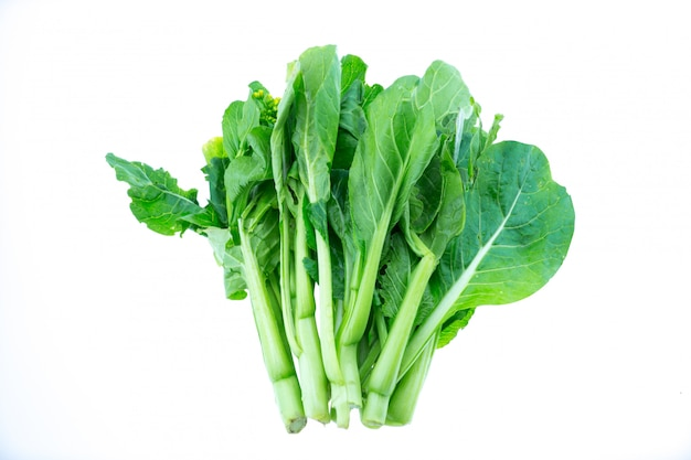Bunches of bok choy, isolated on white Premium Photo