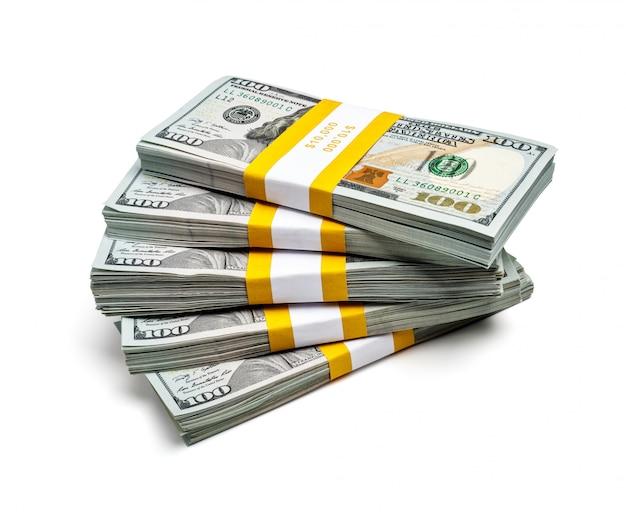 Пачки 100 долларов сша 2013 года выпуска банкнот Premium Фотографии