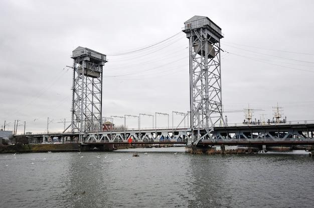 Bunk drawbridge in kaliningrad, russia Premium Photo