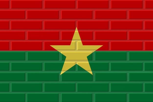 ブルキナファソのレンガの旗のイラスト Premium写真