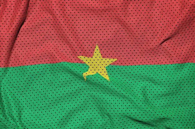 ポリエステルナイロンにブルキナファソの旗を印刷 Premium写真
