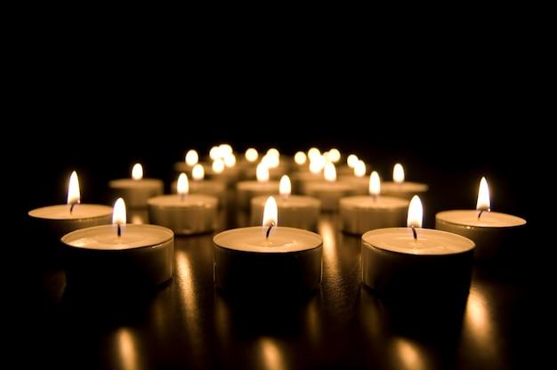 Burning candles Free Photo