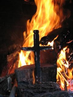 Burning Cross Free Photo