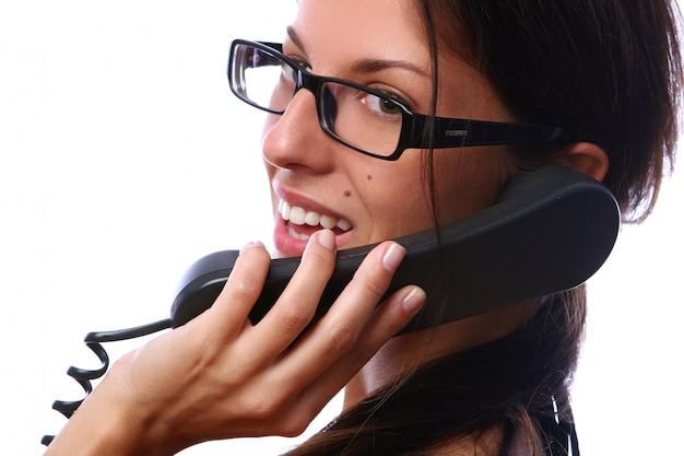 電話で美しいbusines女性 無料写真