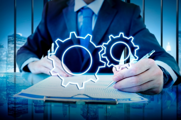 ビジネス成果の進歩develpoment cogwheel concept 無料写真