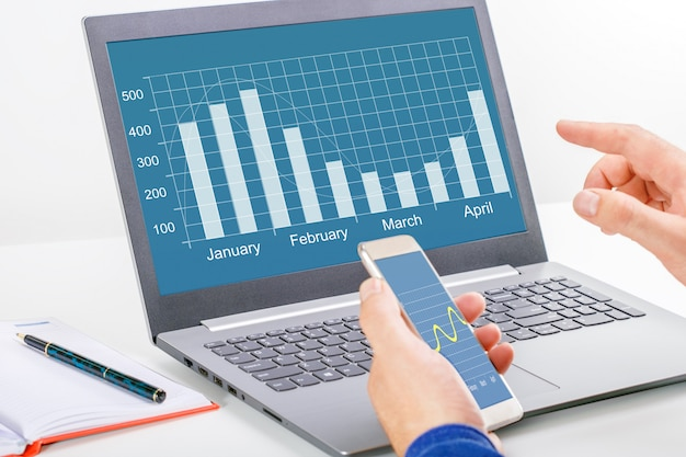 Business analytics and financial technology concept Premium Photo
