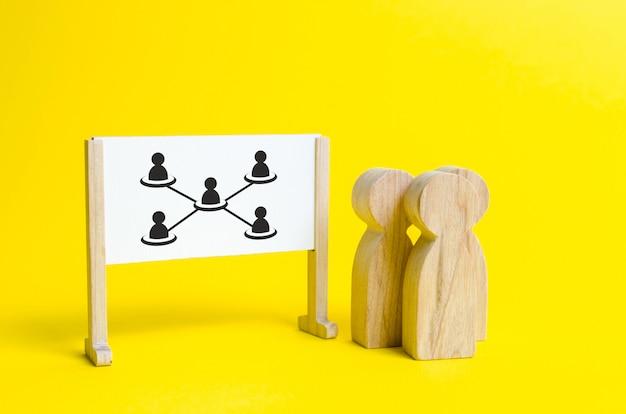 ビジネスおよび人事構造、分析 Premium写真