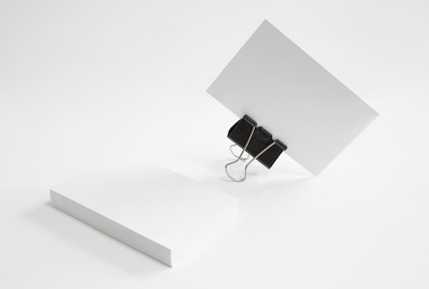 Business card held by bracket Free Photo