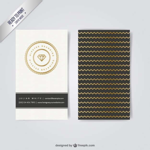 Business card in hipster style for Hipster business card