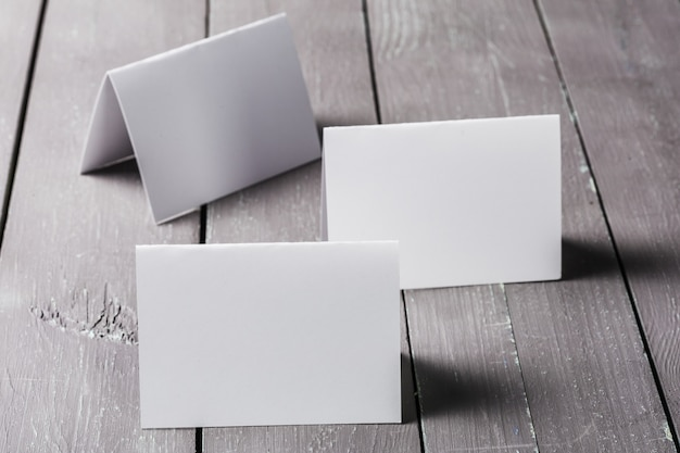 Business cards blank mockup Premium Photo