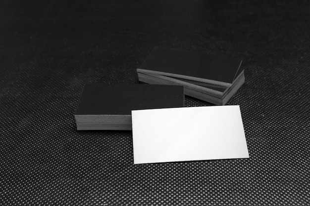 Business cards stack. Premium Photo