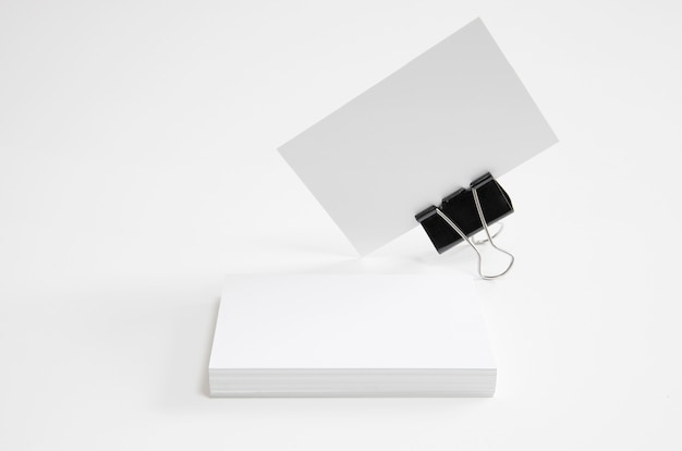 Business cards with bracket Free Photo