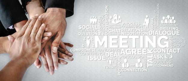 Бизнес коммерция финансы и маркетинг концепции. Premium Фотографии