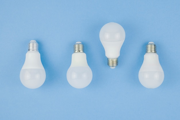 Business concept with light bulbs Free Photo