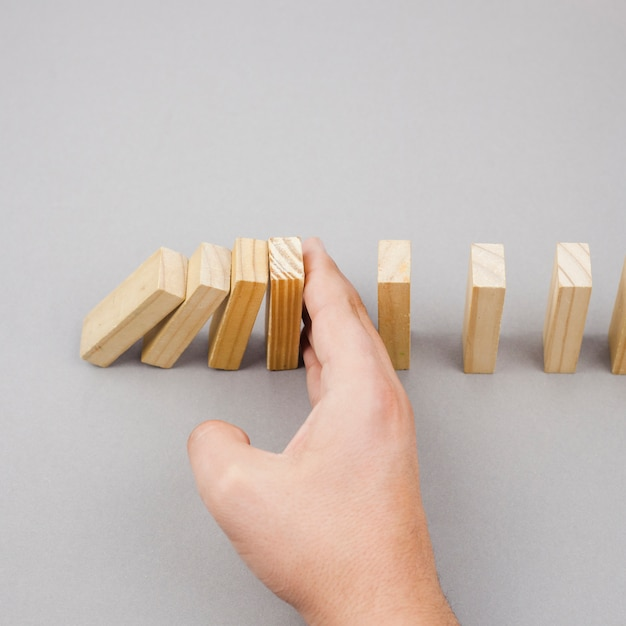 Business concept with wood blocks Free Photo