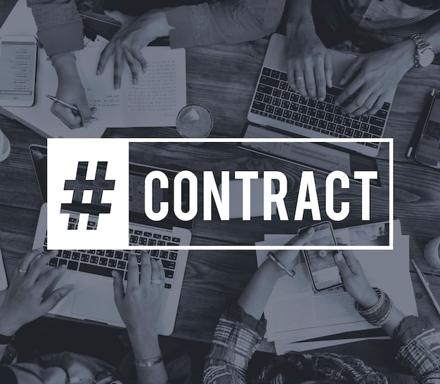 Business contract executive goals target Free Photo