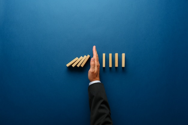 Business crisis management conceptual image Premium Photo