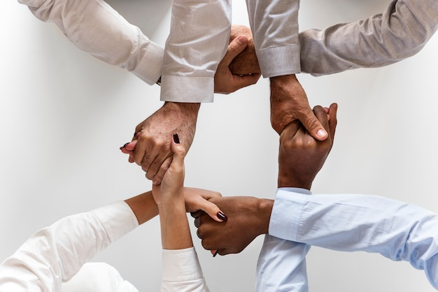 business hands joined together teamwork photo free download