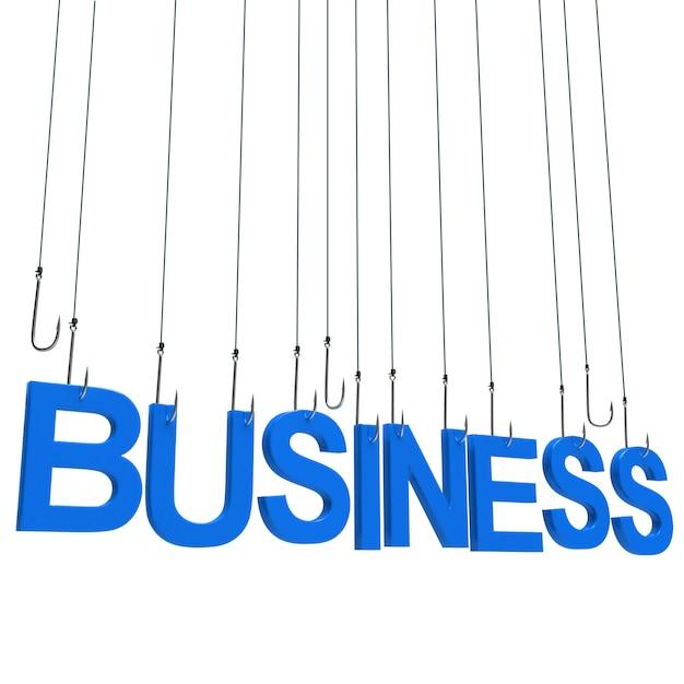 Business ,hanging text Premium Photo