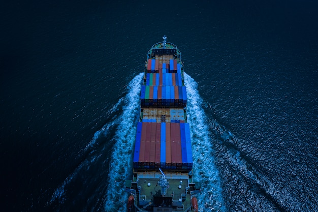 Business and industry shipping and service delivery cargo containers international Premium Photo