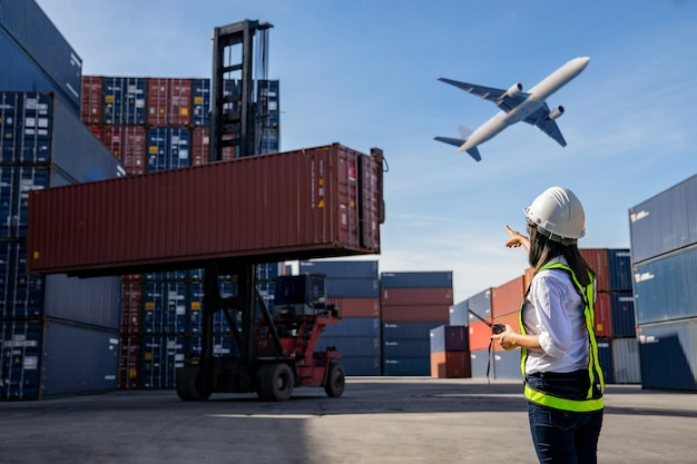 Business logistic concept, import and export concept. Premium Photo