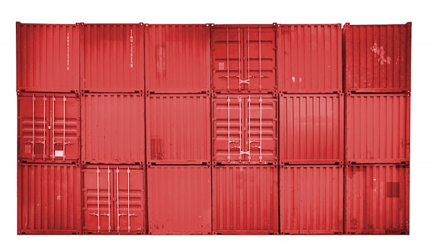 Business and logistics. cargo transportation and storage. equipment containers shipping. Premium Photo