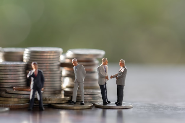 Business man,saving,investment and finance concepts Premium Photo