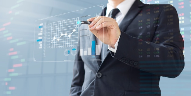 Business man show increase market share investment Premium Photo