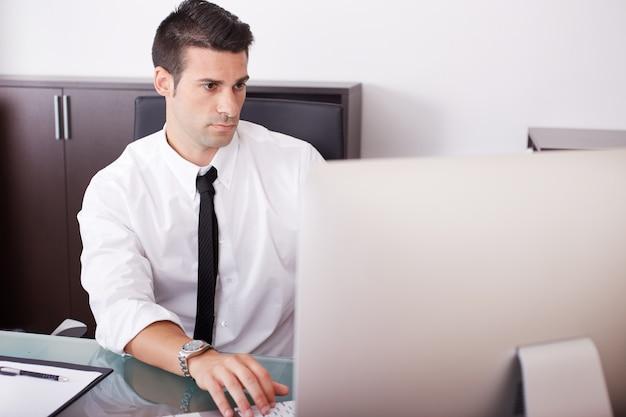 Business man working in office Premium Photo