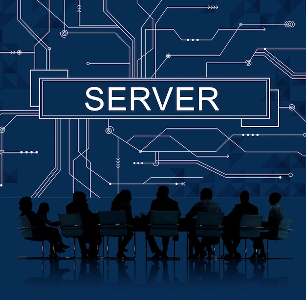 Business meeting abour servers Free Photo