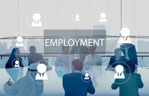 雇用に関する商談会 無料写真