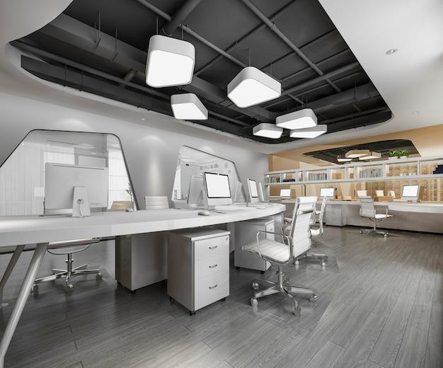 オフィスビルのビジネス会議と作業室 Premium写真