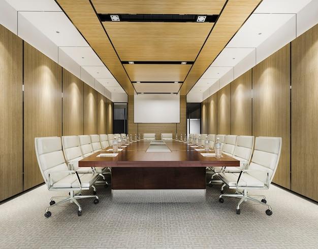 ビジネスミーティングとオフィスビルの作業室 Premium写真