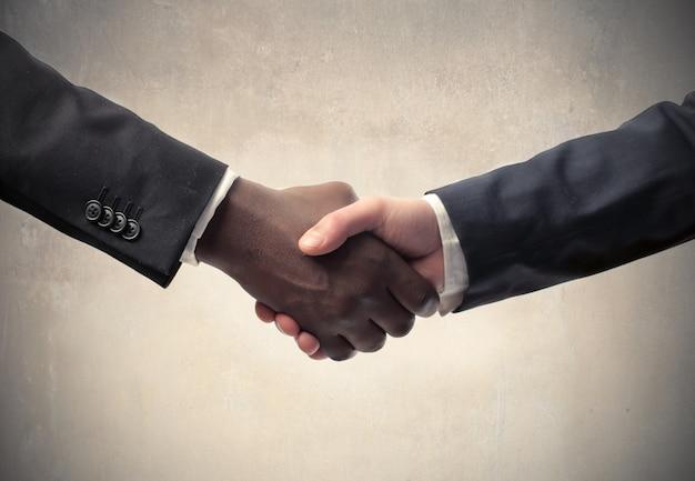 Business meeting and handshaking Premium Photo