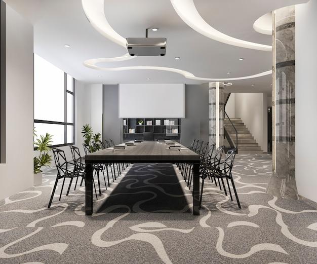 高層オフィスビルのビジネス会議室 Premium写真
