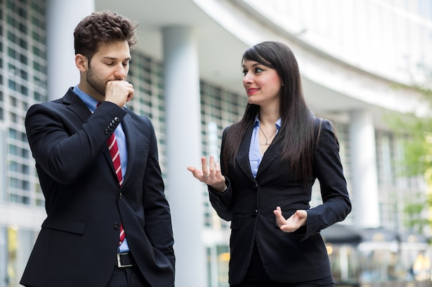 Business partners discussing together Premium Photo