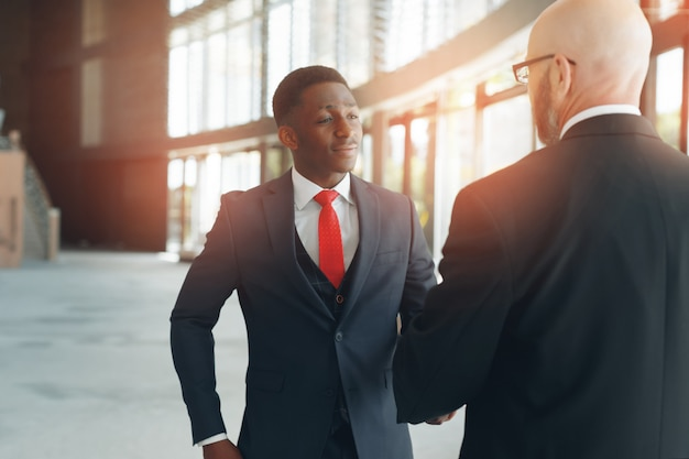 Business partners in a modern office Premium Photo