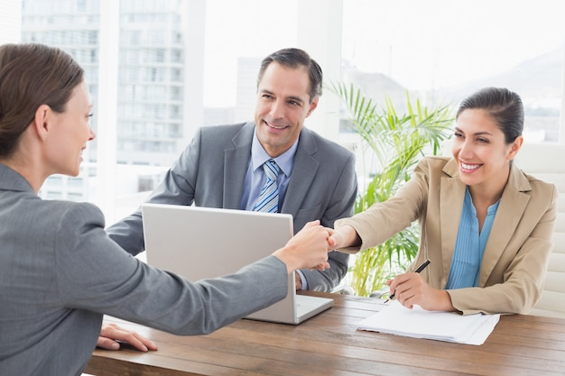 Business people conducting an interview Premium Photo