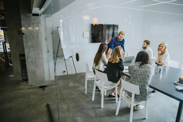 Business people discussing a strategy and working together in office Premium Photo