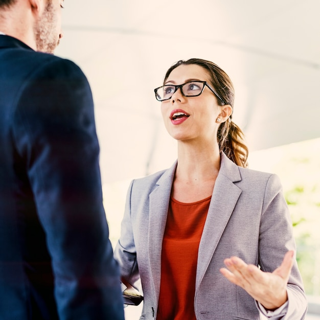 Business People Discussion Communication Togetherness Concept Free Photo