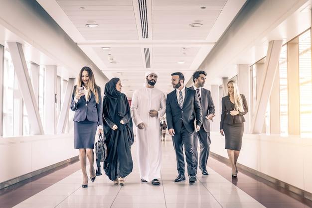 Business people in dubai Premium Photo