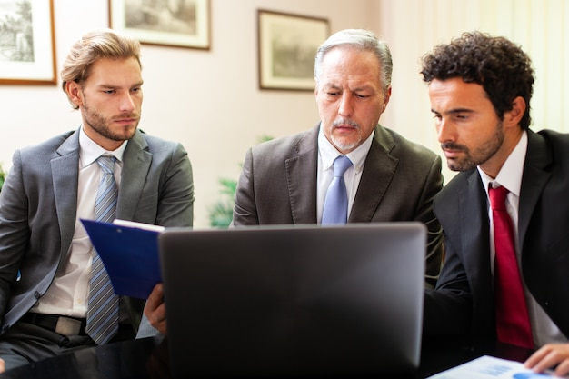 Business people at work together in an office Premium Photo