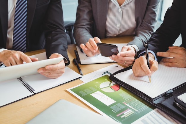 Business people working in conference room Premium Photo
